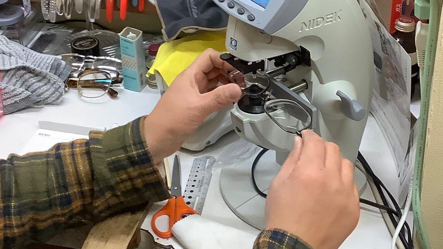 眼鏡屋でのメンテナンス